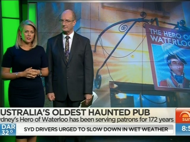 The Hero appears on Channel Seven's Sunrise Show